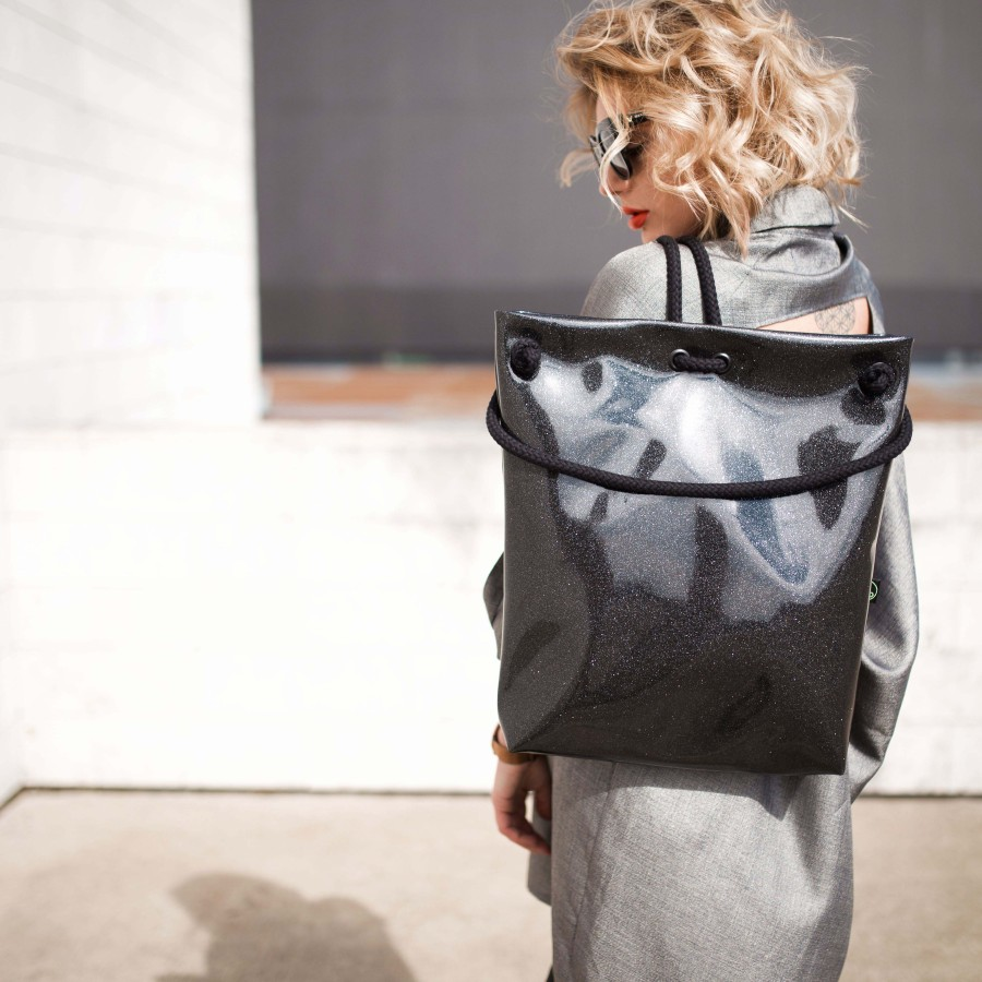 BLACK COSMO BAG-BACKPACK