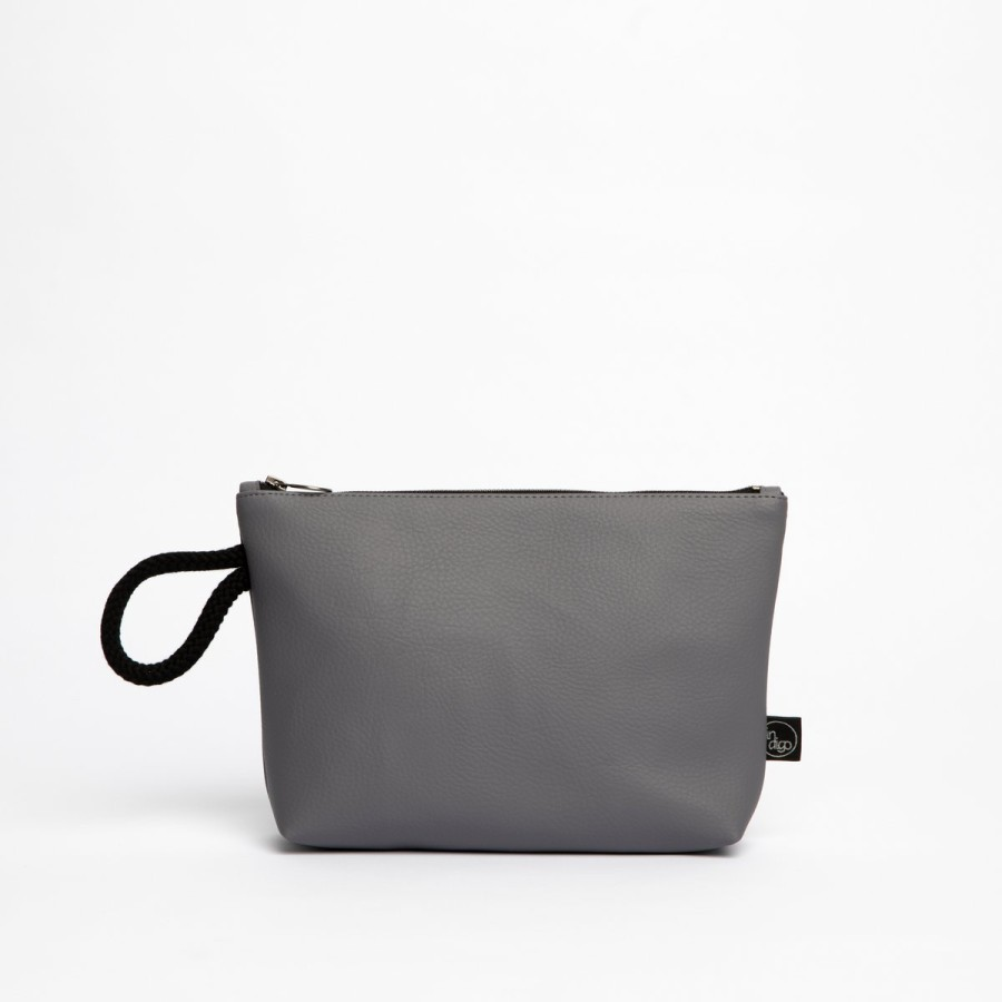GREY CLASSIC CLUTCH BAG