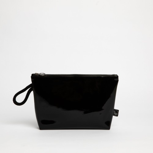 BLACK LACK CLUTCH BAG