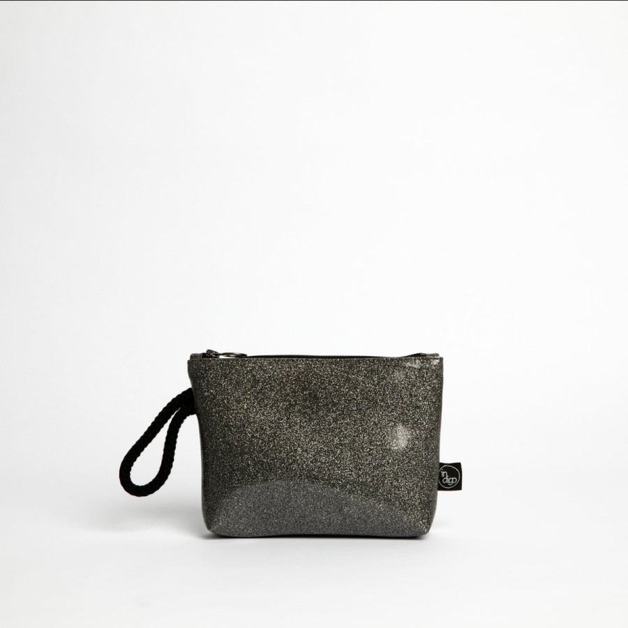 COSMO SILVER CLUTCH BAG 2in1