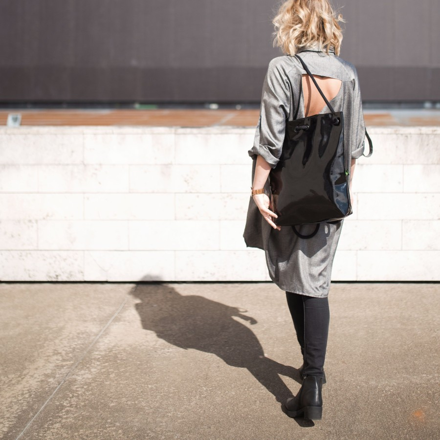 BLACK LACK BAG - BACKPACK