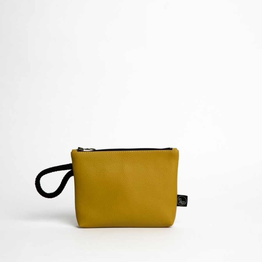 CLASSIC MUSTARD CLUTCH BAG 2in1
