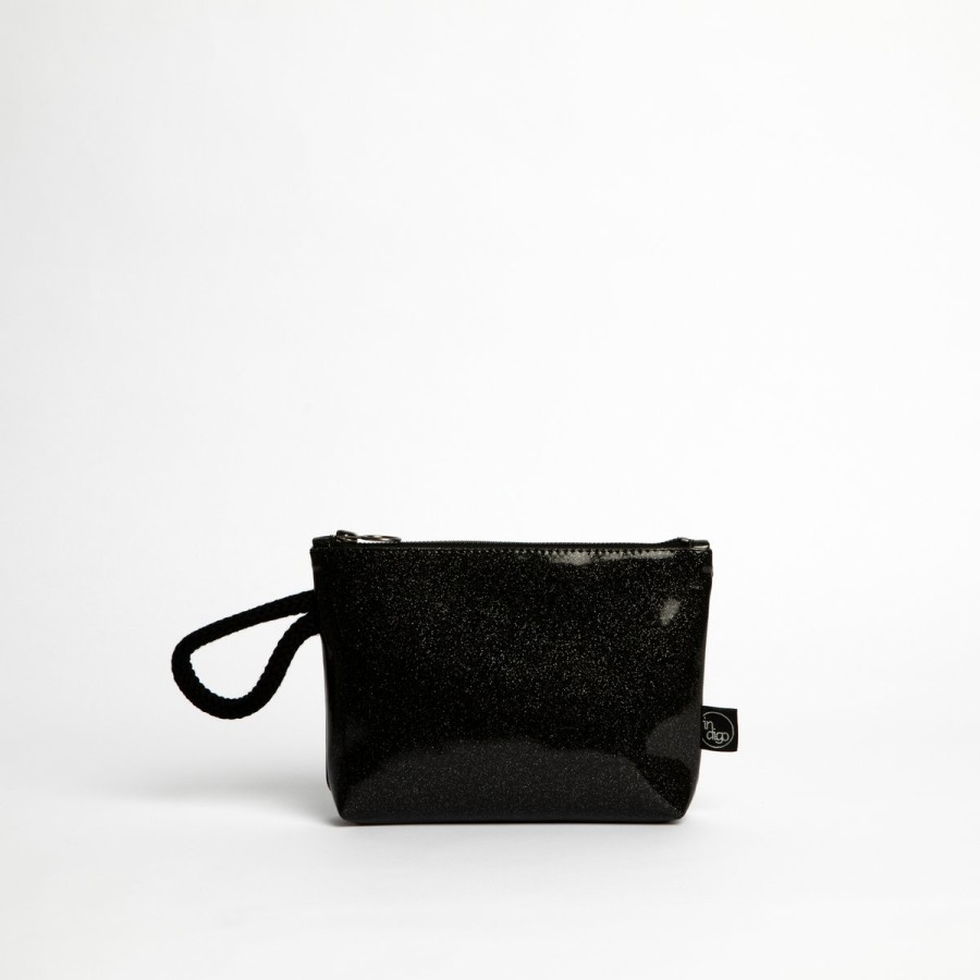 COSMO BLACK CLUTCH BAG 2in1